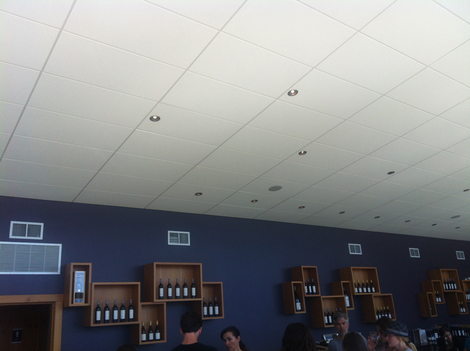Winery ceiling acoustic treatment