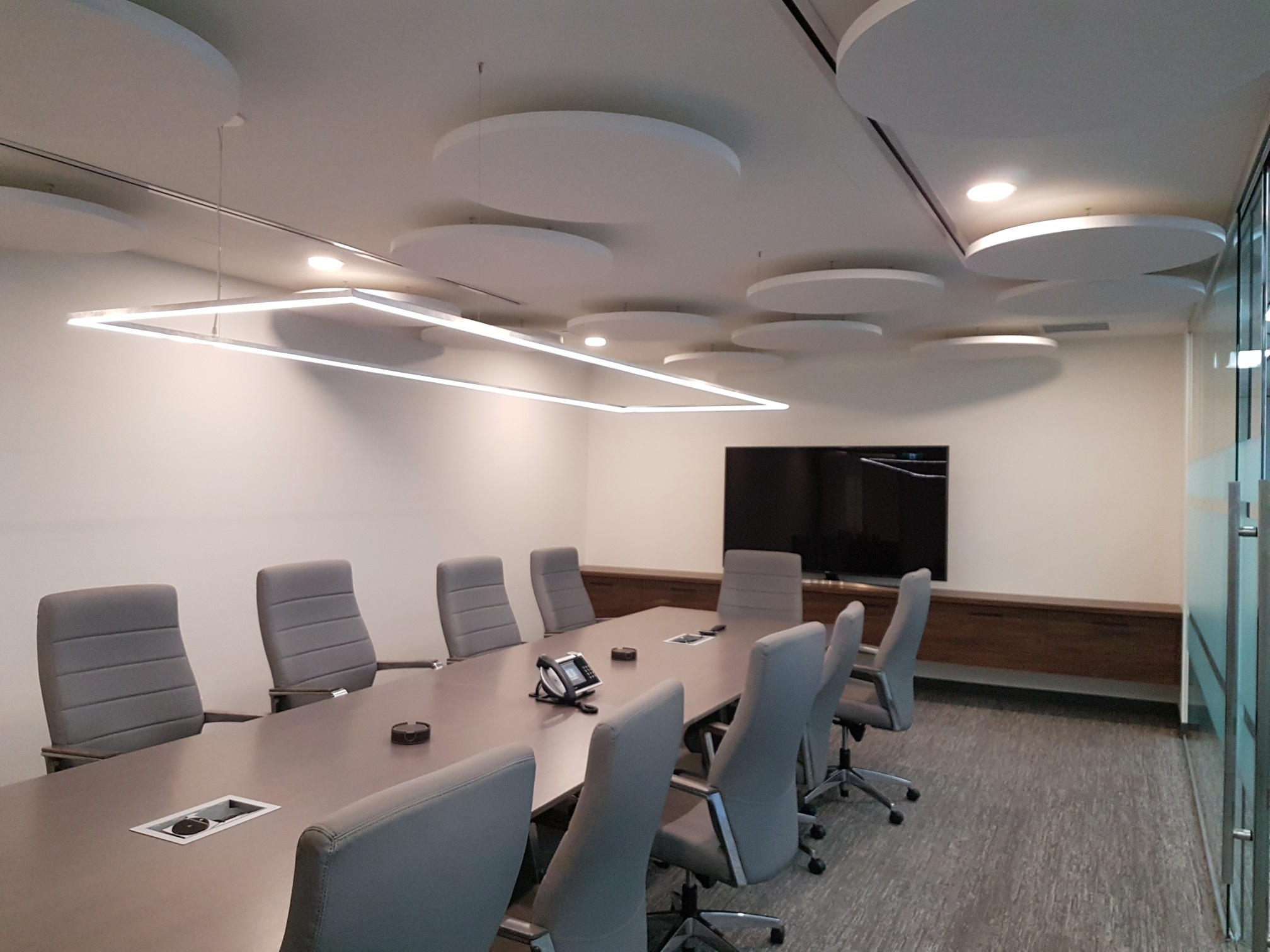 Paintable Halo Panels in boardroom