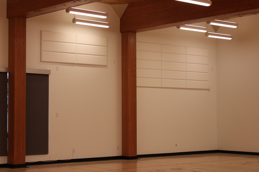 Broadway panels in gym space