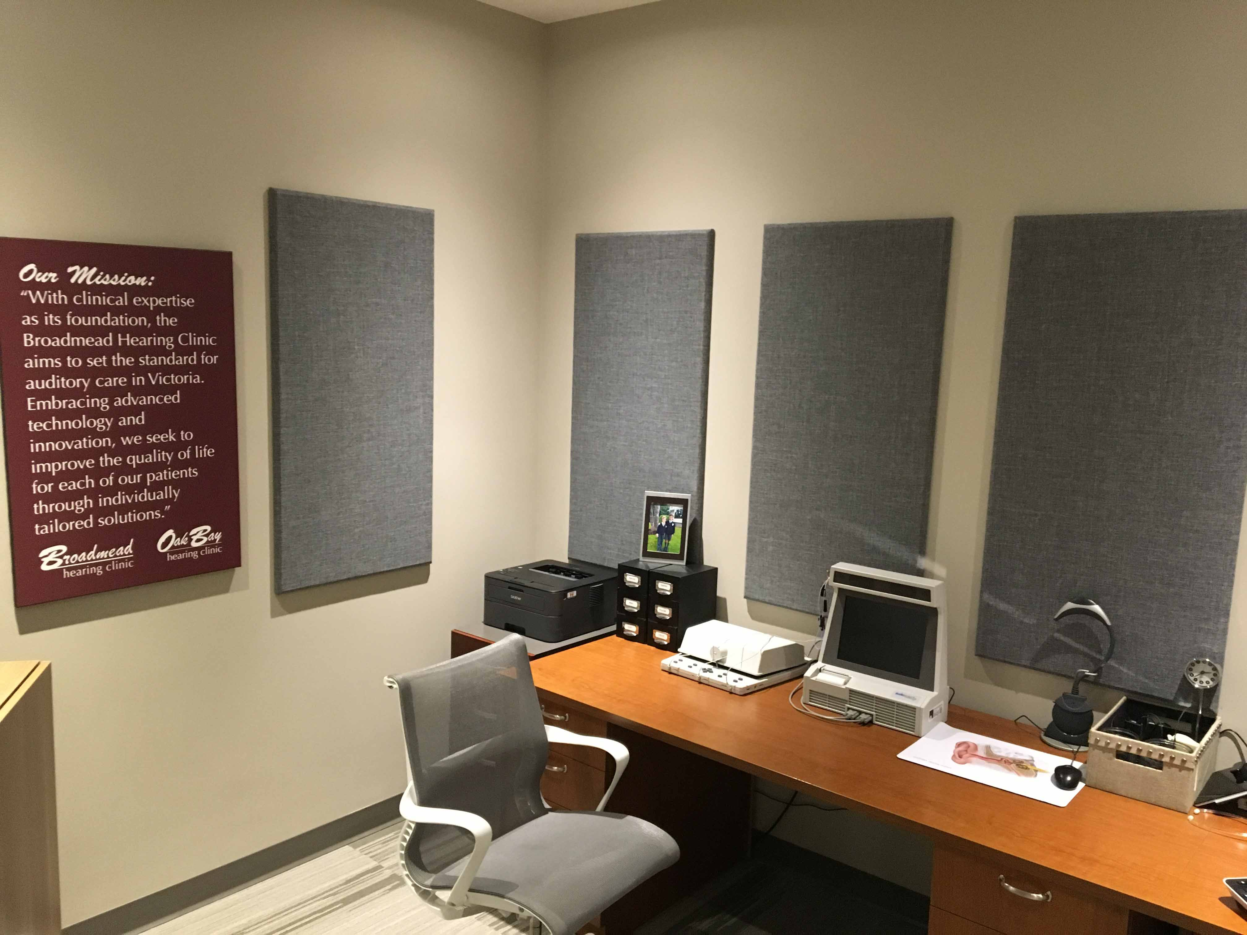Broadway panels in Broadmead Audiology center