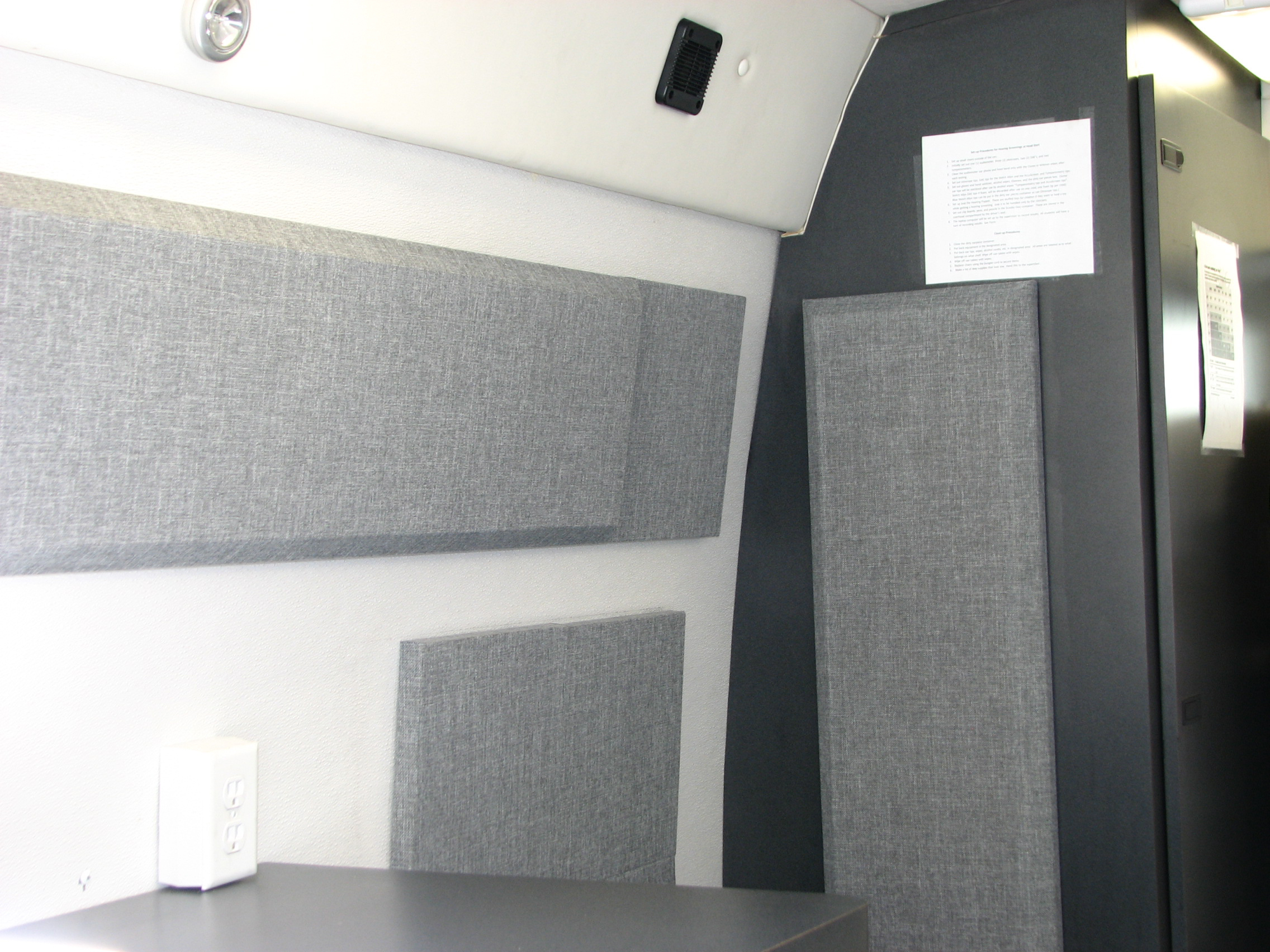 Broadway column panels in Cal State Audiology van