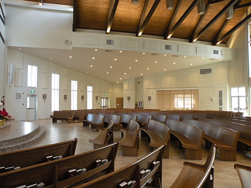 Church acoustics sound panels