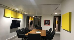 Primacoustic paintable acoustic panels at QuadReal in Vancouver