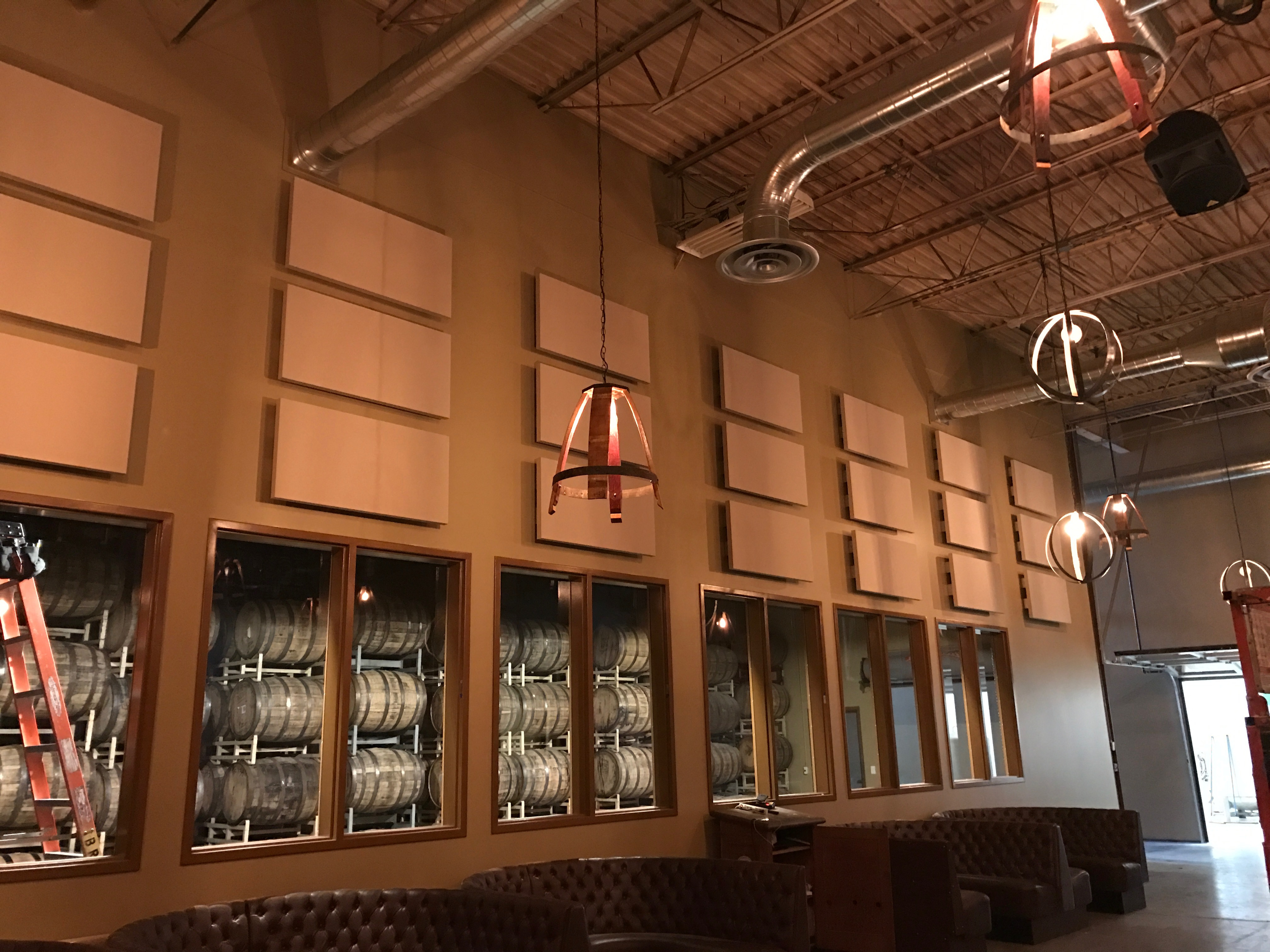 Broadway panels in brew house