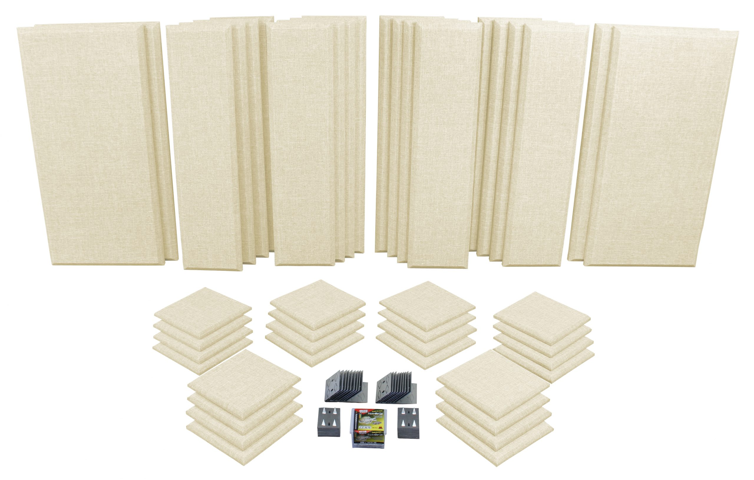 Beige London 16 Acoustic Panels