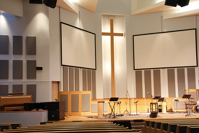 Primacoustic Sound Absorption panels in House of Worship