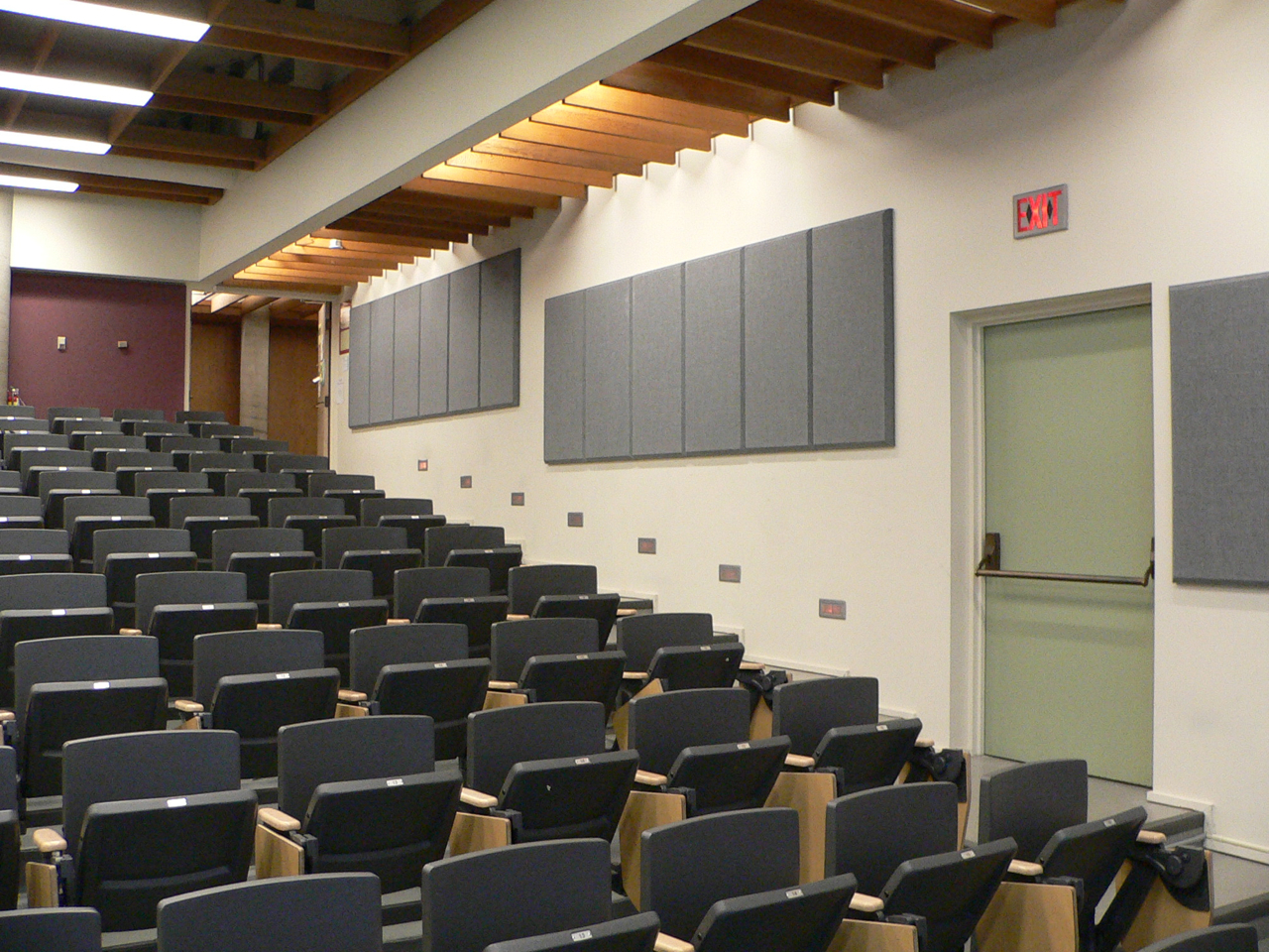 Broadway panels gray wall acoustics SFU lecture hall