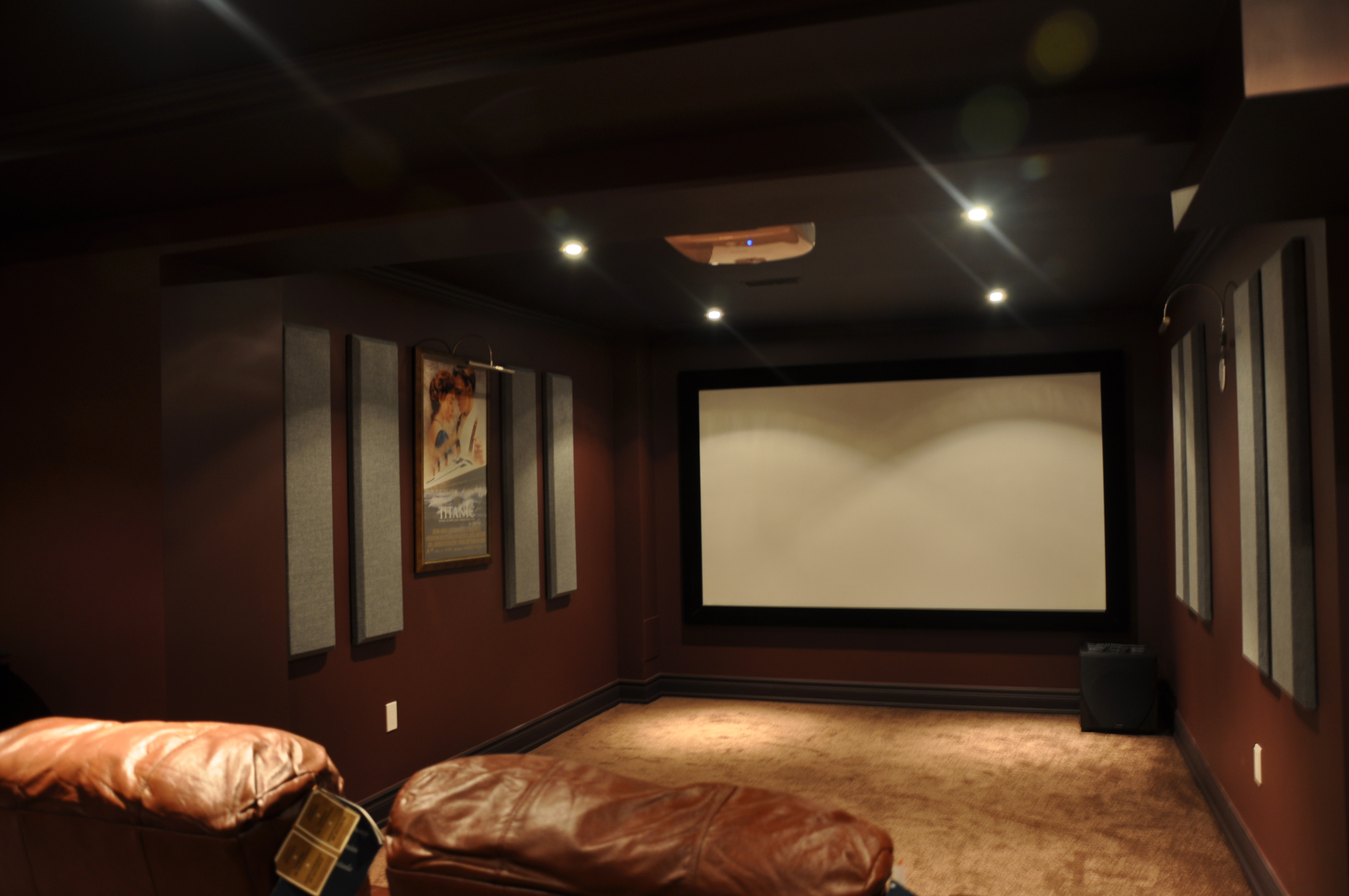 column broadway panels in home theatre