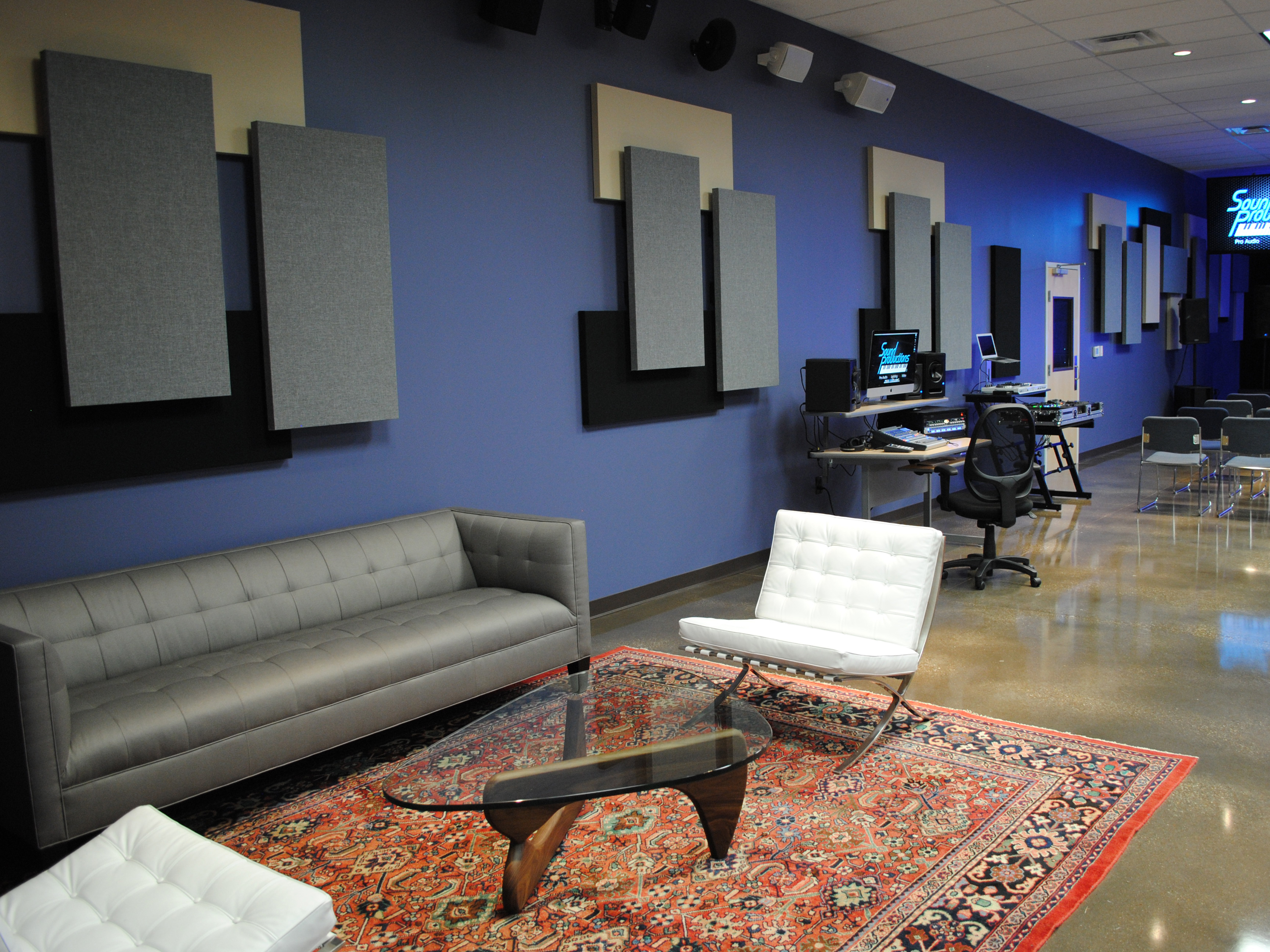 Broadway Panels in Sound Productions space