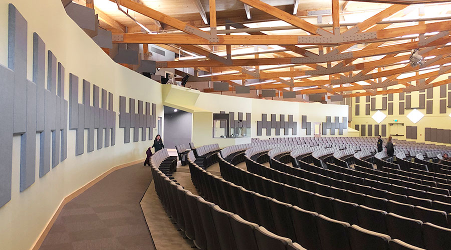 Auditorium space broadway panels Aspen academy