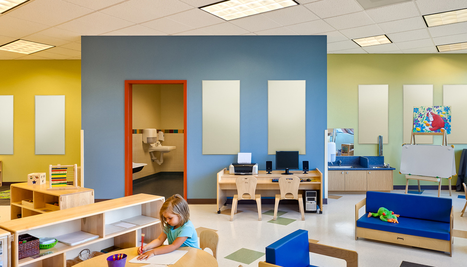 daycare sound acoustic treatment