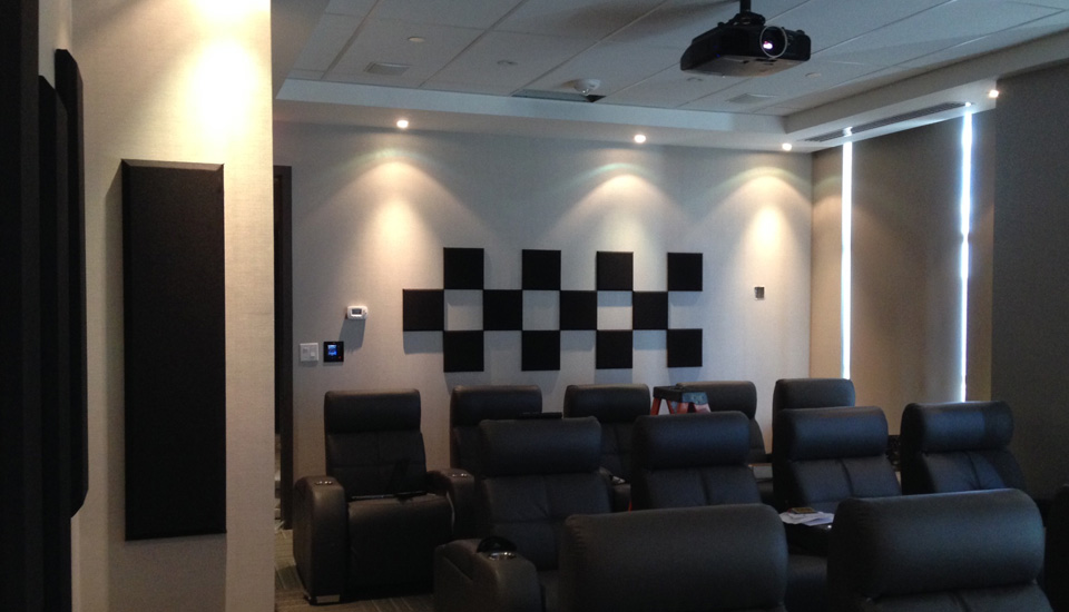 control cubes and columns in home theatre