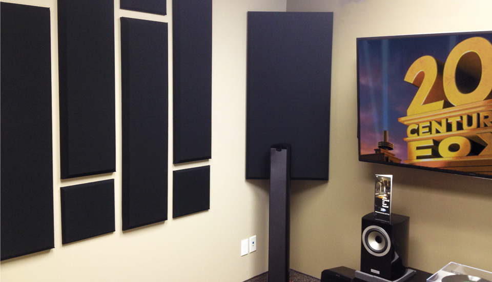 london bass trap scatterblocks and columns in entertainment room