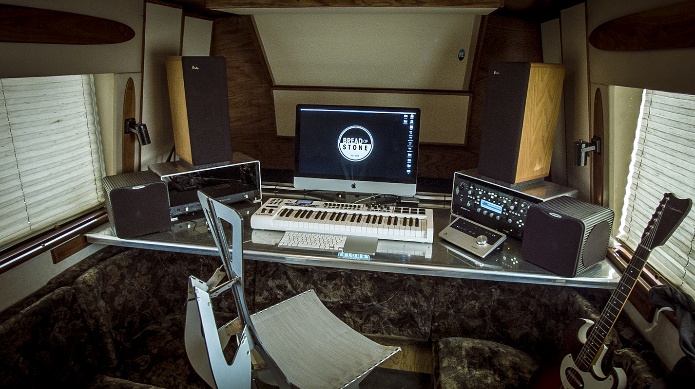 studio with bass trap and acoustic treatment