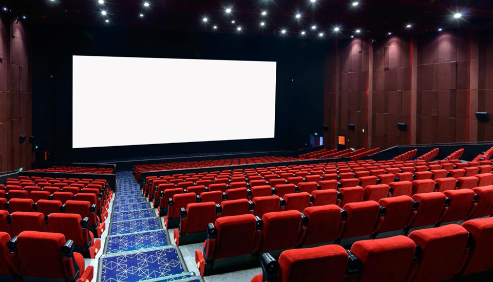 broadway panels paintables in movie theatre