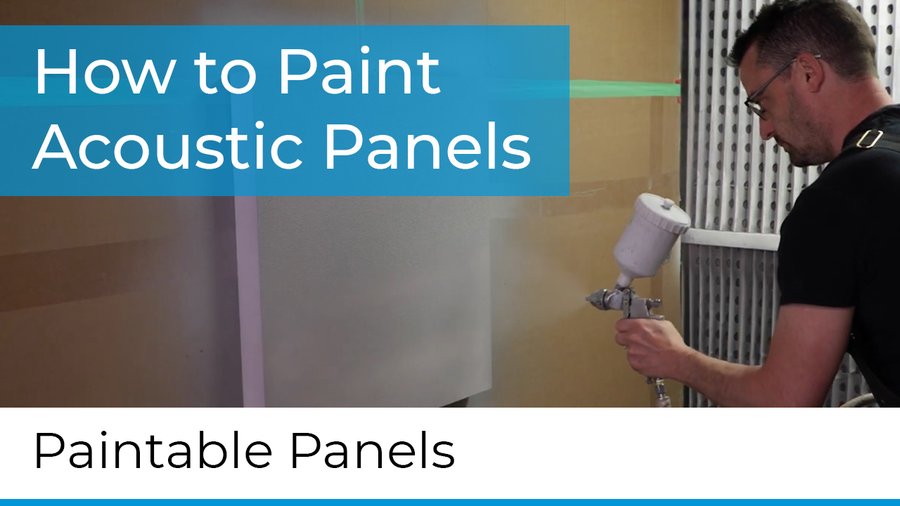 how to paint acoustic panels