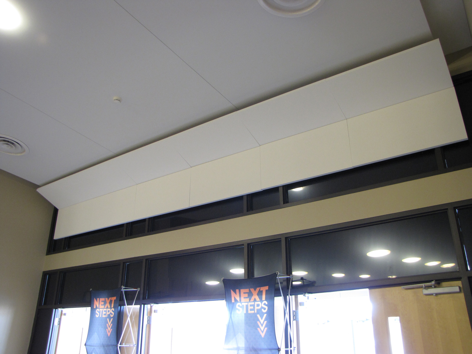 Acoustic treatment broadway panels in prairie ridge ceiling