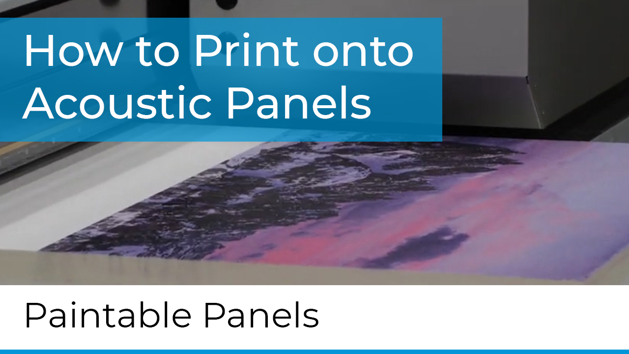how to print acoustic panels
