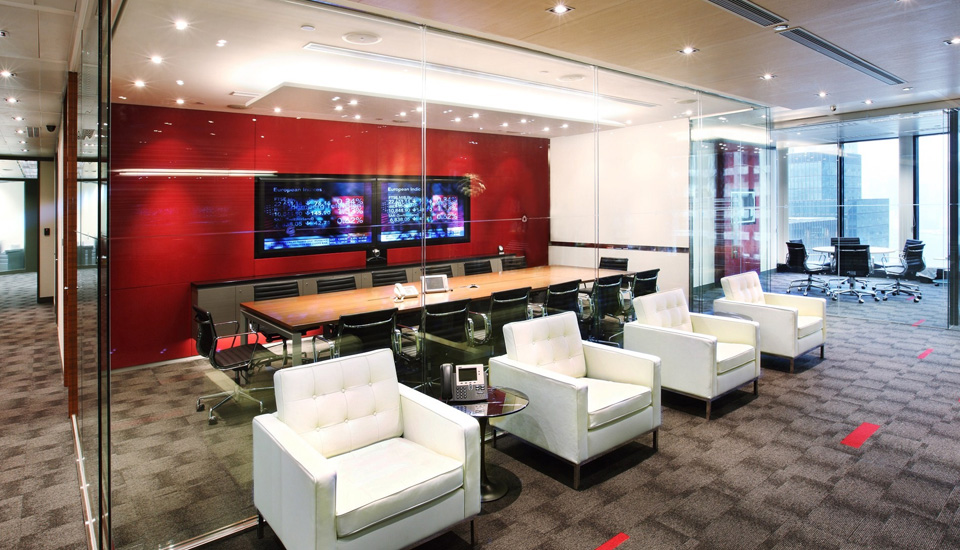 acoustic treatment in office space