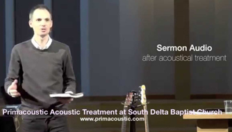 room acoustics for a sermon using london 16