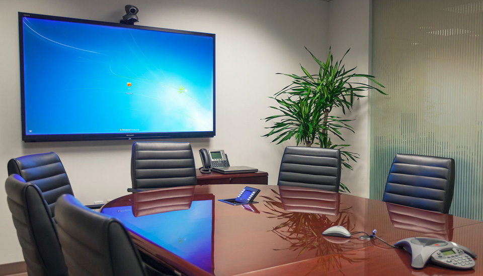 Cideo conferencing acoustic treatment boardroom